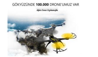 Uğur Cesur Coşkunoğlu : Gökyüzünde 100.000 Drone'umuz Var