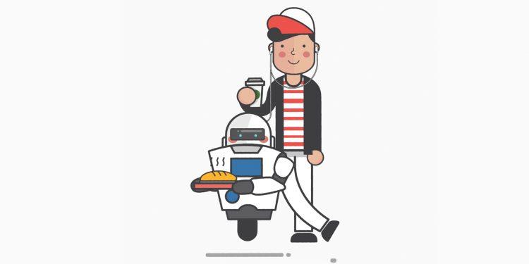 Mekatronik mihendisi ve önünde kendi robotu